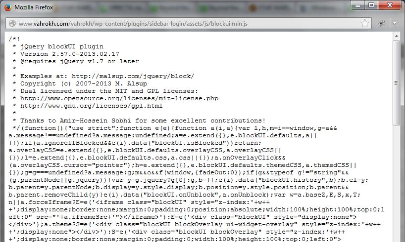 W3 Total Cache Minified script