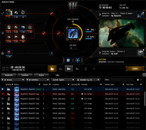 EvE Online new Industry User Interface